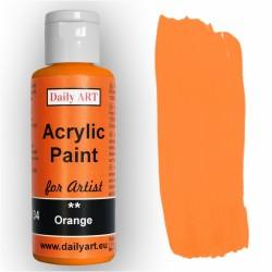 Akrylová umělecká barva Oranžová 50 ml Daily ART