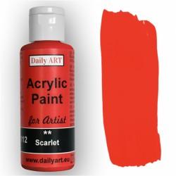 Akrylová umělecká barva Šarlatová 50 ml Daily ART