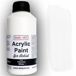 Akrylová umělecká barva Běloba titanová 500 ml Daily ART