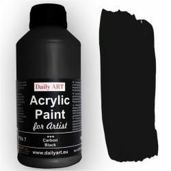 Akrylová umělecká barva Uhlově černá 50 ml Daily ART