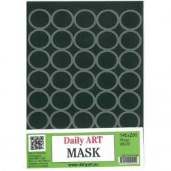 Šablona plastová Kruhy 28x25 A5 Daily ART