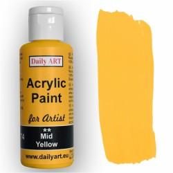 Akrylová umělecká barva Žlutá střední 50 ml Daily ART