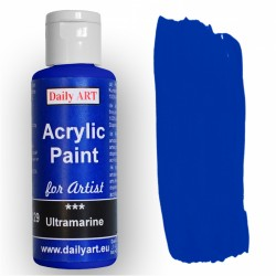 Akrylová umělecká barva Ultramarínová 50 ml Daily ART
