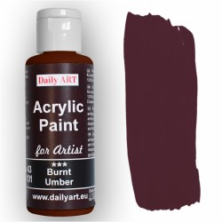 Akrylová umělecká barva Umbra pálená 50 ml Daily ART