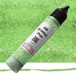 3D liner glitrový Světle zelený 25 ml Daily ART