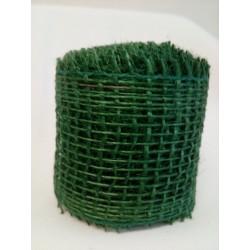 Jutová stuha, zelená, 3 m
