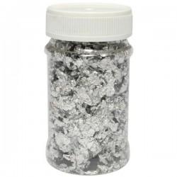 Kovové vločky, stříbrná, 100 ml,  Daily ART