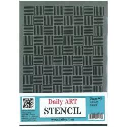 Šablona plastová Čárkované vzory A5 Daily ART