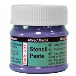 Pasta na šablony fialová perleťová 50ml Daily ART
