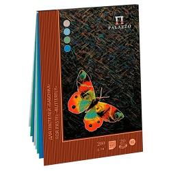 Blok na pastel A4 20 listů 200g/m² 4 odstíny motýlek Palazzo