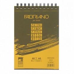 Skicák A5 60 listů 90g/m² kroužková vazba Schizzi Fabriano