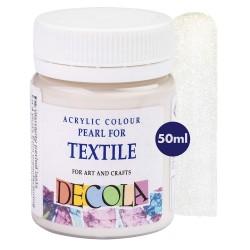 Barva na textil bílá perleťová 50 ml Decola