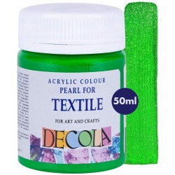 Barva na textil, Zelená perleťová, Decola, 50 ml
