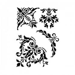 Šablona plastová A5 Ornamenty do rohu Daily ART